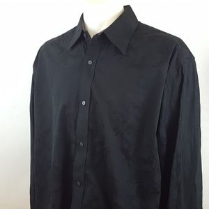 Robert Graham Men's Long Sleeve Flip Cuff Black XX